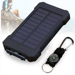 Solar Power Bank Dual USB Power Bank 20000mAh Waterproof Powerbank Bateria External Portable Solar Panel with LED Light - DealsBlast.com