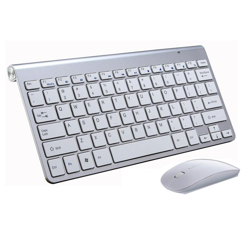 Spanish keyboard Stickers Ergonomic Wireless 2.4G Ultra Slim Keyboard Mouse Keyboard Mouse Combos for Apple Mac Win XP/7/10 IOS - Deals Blast