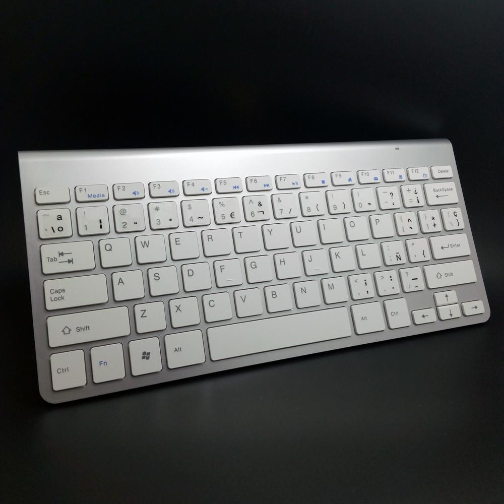 Spanish keyboard Stickers Ergonomic Wireless 2.4G Ultra Slim Keyboard Mouse Keyboard Mouse Combos for Apple Mac Win XP/7/10 IOS