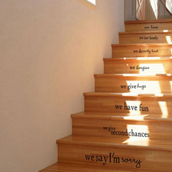 Stair Decals Wall Sticker We Are Family In This House Art Home Decor - DealsBlast.com