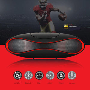 Subwoofer Bluetooth Speaker Portable Wireless Speaker Sound System 3D Stereo Music Surround Support TF AUX USB FM Radio with box - DealsBlast.com
