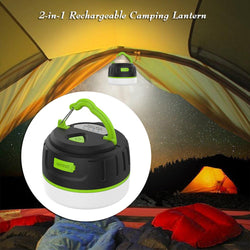 Super Bright Waterproof Magnetic LED Camping Lantern 2 in 1 Power Bank 200LM Ultra 5200mAh Rechargeable Emergency Light Lamp - DealsBlast.com