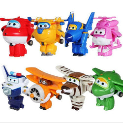 Super Wings Mini Airplane ABS Robot toys Action Figures Super Wing Transformation Jet Animation Children Kids Gift - DealsBlast.com