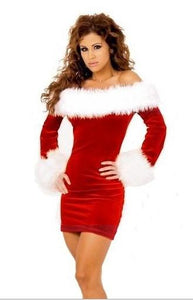 Christmas girl clothes Knee-length dress women - DealsBlast.com