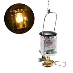 Mini Camping Light Gas Lantern Tent Gas Lamp with 2 Lantern Mantles Outdoor Compact Gas Light Hanging Lamp for Travel - DealsBlast.com