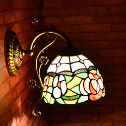 Corridor Tiffany Flower Light Rose Wall Lamp - DealsBlast.com