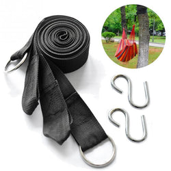 Top Quality 2PC Camping Strong Strap Belt Hammock Tree Straps Hanging Straps Rope With 2 Hooks - DealsBlast.com