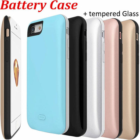 7Plus Battery Backup External Charger Case for IPhone 7 Plus Battery Case Silicon /3700mAh is ultra-thin case/7500mAh thick