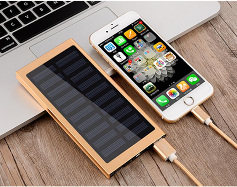 Ultra Slim 20000 mAh LED backlight lights Solar Power Bank with Slim External Powerbank solar charger for mobile phone / outdoor - DealsBlast.com