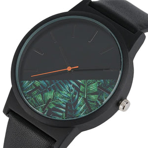Unique Tropical Jungle Design Quartz Wristwatch for Men