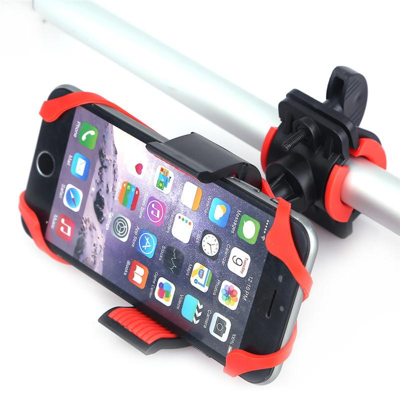 sports shoes 32a16 05edf Universal Bike Bicycle Motorcycle Handlebar Mount Holder Mobile Cell Phone  Holder With Silicone Support For iphone 6s SmartPhone