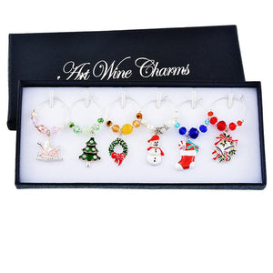 Christmas Wine Glass Ornaments - DealsBlast.com