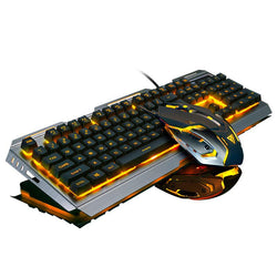 V1 Wired Backlit illuminated Multimedia Ergonomic Usb Gaming Keyboard Gamer + 3200DPI Optical Pro Gamer Mouse PC Laptop Computer