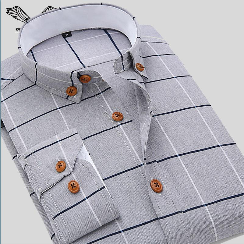 New Arrival Men Shirt Casual Long Sleeve Plaid Formal Brand Clothing Business  Shirts Man Chemise Homme