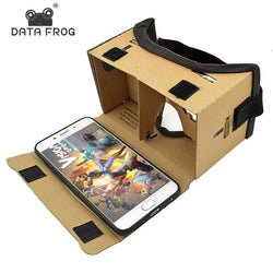 Virtual Reality Glasses Google Cardboard Glasses 3D Glasses VR Box Movies for iPhone 5 6 7 SmartPhones VR Headset - DealsBlast.com