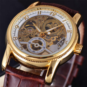Luxury Wrist Watch Men Military Sport Clock Business Skeleton