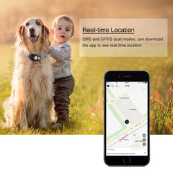 Waterproof Mini GPS Tracker Locator for Kids Children Pets Cats Dogs Collar Animal Vehicle Free APP for iOS/Android Web Tracking