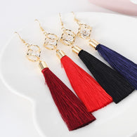 Fashion Jewelry Tassel Crystal Alloy Dangle Earrings Long Earrings Trending Fashion For Women