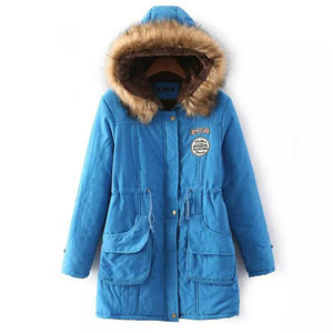 Winter Jacket Down Fur Coats Women Parkas Outwear Hooded - Deals Blast