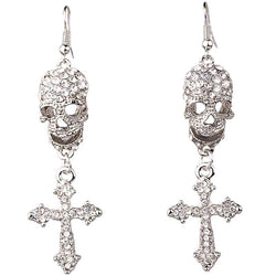 Women Fashion Jewelry Skull Cross Style Earrings for women girls - DealsBlast.com