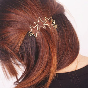 Women Ladies Popular Hollow Star Tassel Hairpin Hair Pin Hair Clips New High Quality Hair Accessories - DealsBlast.com