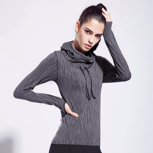 Women's High Elastic Sports T-shirts Outdoor Fitness coat - DealsBlast.com