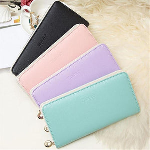 Women's Purse Women Wallets Long Bifold Leather Wallet Women Card Holder Wallets carteras mujer Ladies Purse - Deals Blast