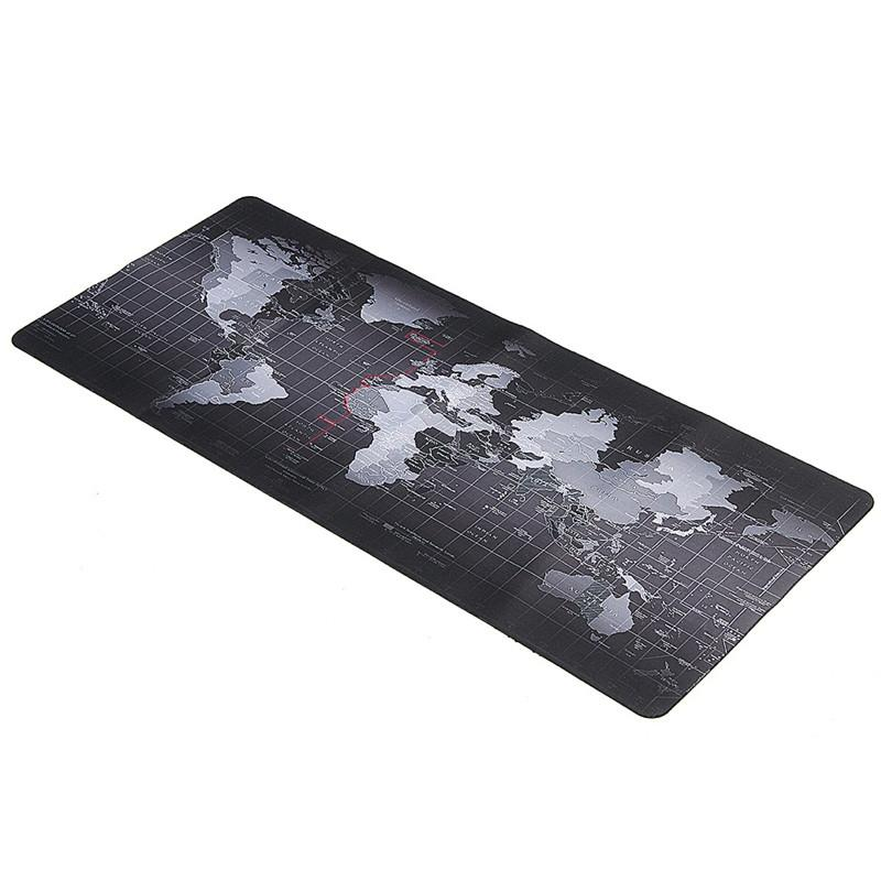 World Map Mouse Pad 700x300mm/800x300mm/900x400mm Large Size Speed Keyboard Mat Computer Gaming Mousepad Locking Edge Table Mat