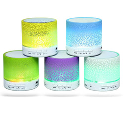 Portable Mini A9 LED Night Light Wireless Bluetooth Speaker Support TF USB FM Radio Headphone Mic Subwoofer Loudspeaker - Deals Blast
