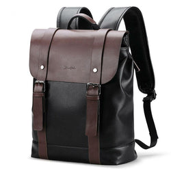Men's Genuine Leather Travel Backpack - Deals Blast