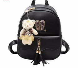 Girls Mini Backpack Women Bags Bear Leather School Bag - DealsBlast.com