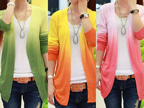 Women's Casual Gradient Color Long Sleeve - DealsBlast.com