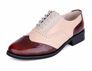 Genuine Leather Handmade Oxford Shoes - DealsBlast.com