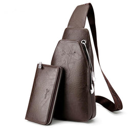 Men's Cross Body Leather Bag - Deals Blast