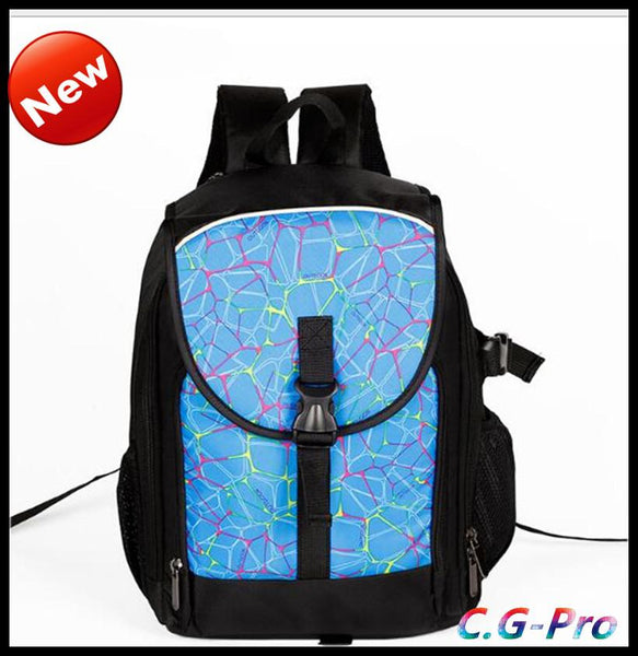 fashion travel backpacks, camera bag with different color lots size.