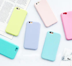 Frosted Matte Color Silicone Case for iPhone 6 6S 5 5S SE 8 Plus X 7 7Plus - DealsBlast.com