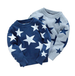 Male  child sweater, five-pointed star sweater pullover autumn  winter children's clothing baby boy clothes - DealsBlast.com