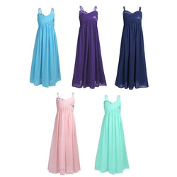 Girls Flower Summer Dress For Wedding Party Bow Dress - DealsBlast.com