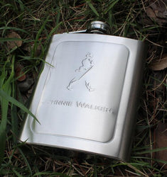 Protable 7 Oz Stainless Steel Wine Whiskey Hip Flask Bottle Flagon Kettle Alcohol Hip Flask Engraving - DealsBlast.com