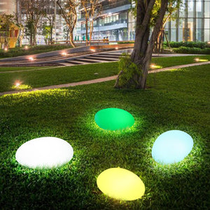 Solar Lights Outdoor Stone Shape Solar Garden Light Waterproof Color Changing Landscape Lights with Remote Control