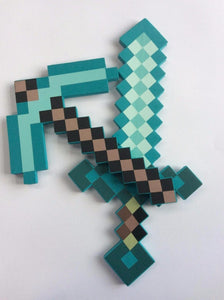 1pc New Minecraft Toys Minecraft Foam Sword Pickax Gun Minecraft Foam Weapons Model Toys Brinquedos for Kids Gifts Minecraft Model