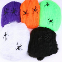 Spider Web Haunted House Scene Props Arranged Decor Halloween Party Decoration Holiday DIY