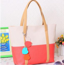 Women's handbag daily shoulder bag casual handbag trend of the color block decoration small flower bags