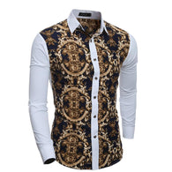 Fashionable  Printed Star Pattern Slim Men Shirts - DealsBlast.com