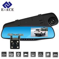 Full HD 1080P Car DVR Camera Auto 4.3 Inch Rearview Mirror Digital Video Recorder Dual Lens Registratory Camcorder - DealsBlast.com