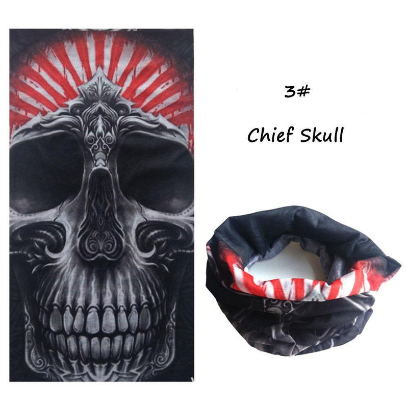 Halloween Head Scarf Skull Mouth Scarves - DealsBlast.com