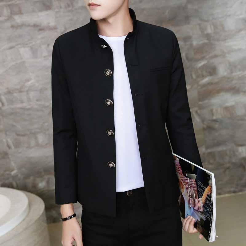 Men's Black Suit Long Sleeve Blazers