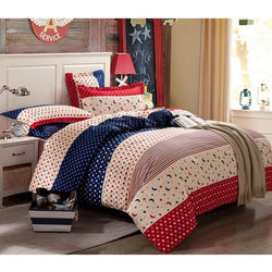 4pcs 100% Cotton bedding set flag bedding queen king British flag quilt duvet cover set,galaxy bedding set - Deals Blast