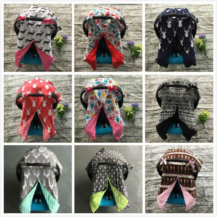 Baby Car Seat Canopy cover infant  children animal deer dinosaur owl  carseat cover baby canopies - DealsBlast.com