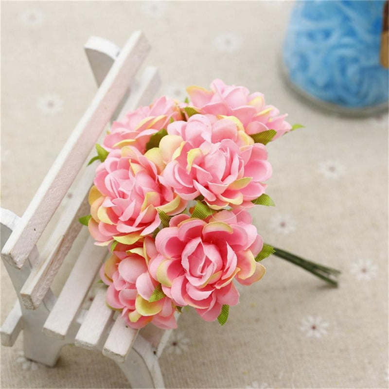 6 pcs / lot Silk Rose Bouquet Artificial Flowers Garden - DealsBlast.com